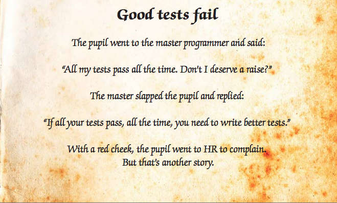 Good tests fail